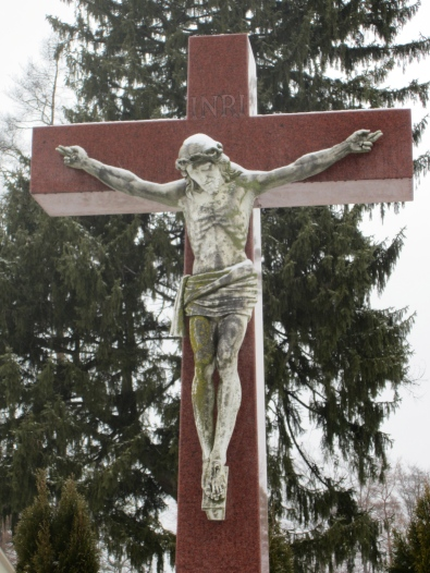 Crucifix Statue in the Oldenburg OSF Cemetery